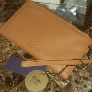 Rachel Roy Tan Leather Wristlet Wallet NWT